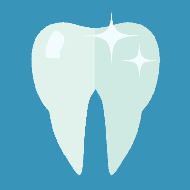 изображение на искрящо бял зъб